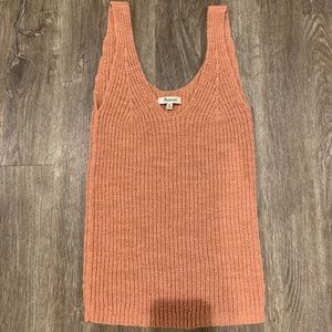 Madewell pink sweater tank size XS